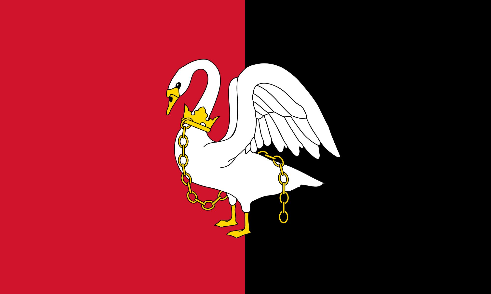 Buckinghamshire County England Flag Sticker Sheet