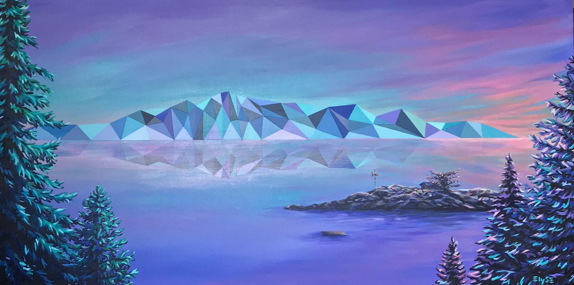 Canadian Artist Paints Famous Landscapes With Geometric