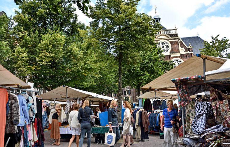 Noordermarkt Noorderkerk Flea market Amsterdam Netherlands