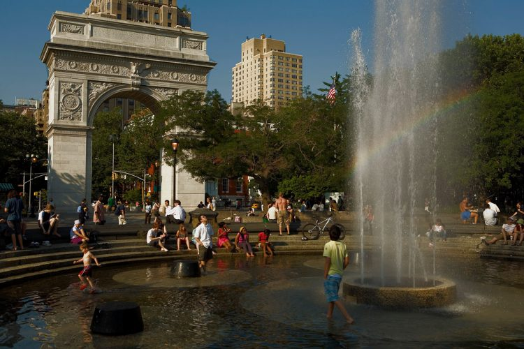 Washington square park,New York City, USA