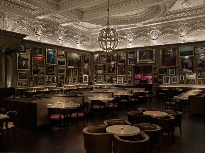Berners Tavern's interior drips with opulence