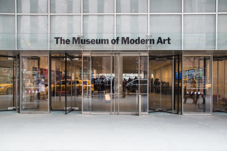 Entry to the Museum of Modern Art (founded in 1929) in Manhattan.