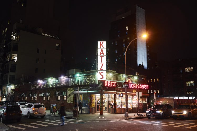 Katz's Delicatessen (est. 1888), a famous New York City restaurant, is known for its Pastrami sandwiches.