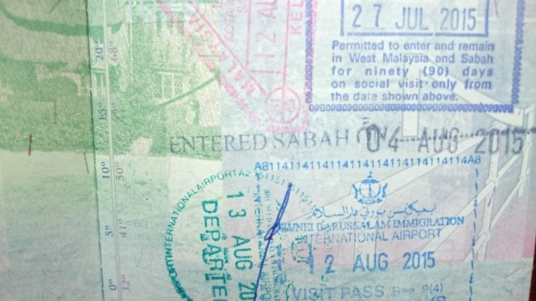 Singapore Tourist Visa Stamp On Passport