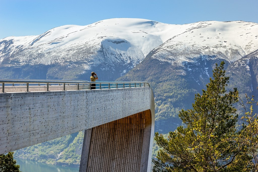 norway u0026 39 s aurland lookout tower is perfect for adventure