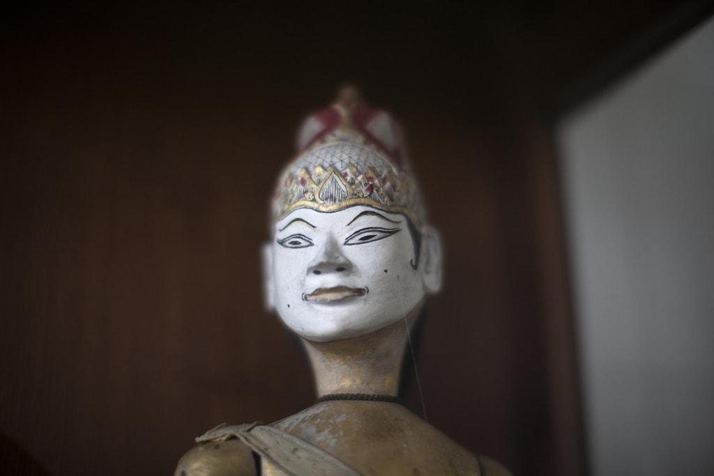 Javanese wooden doll at Yogyakarta sultanate palace