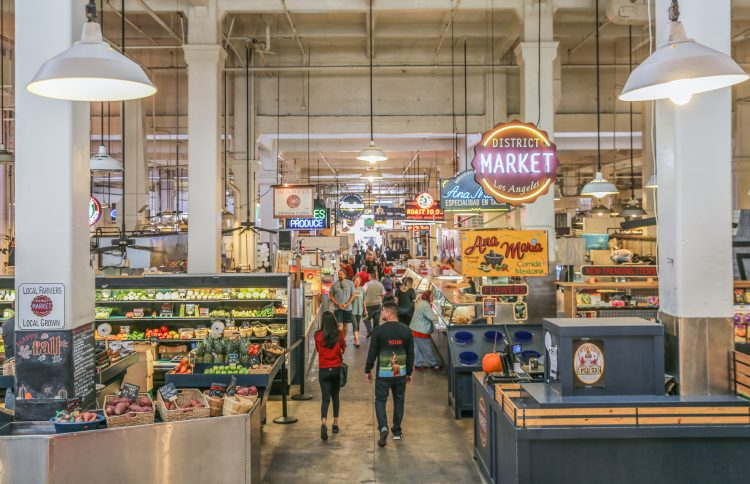 Grand Central Market in downtown Los Angeles.