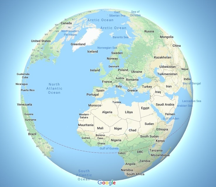 Google Earth Map Of Spain.The New Globe Mode On Google Maps Will Change The Way You Think