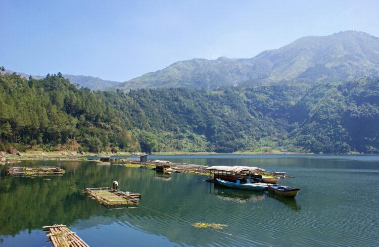 Lake Telaga Menjer, Dieng Plateau, Wonosobo