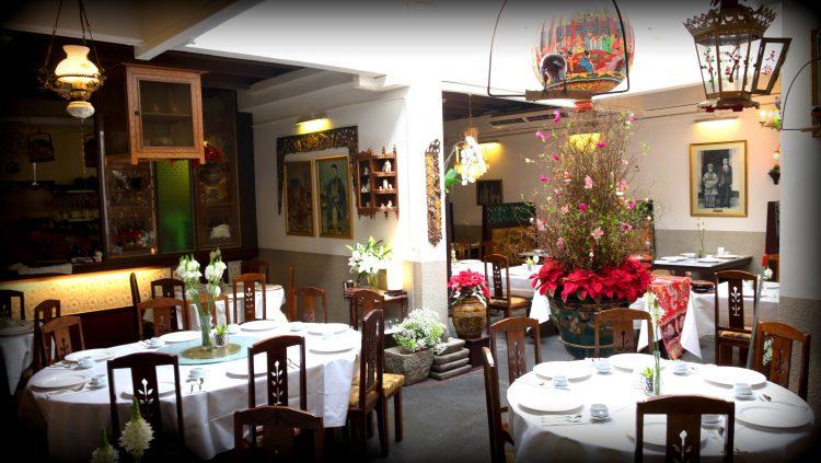 The interior of True Blue Cuisine in Singapore