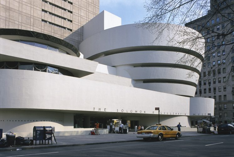Solomon R. Guggenheim Museum, designed by Frank Lloyd Wright, New York, USA.