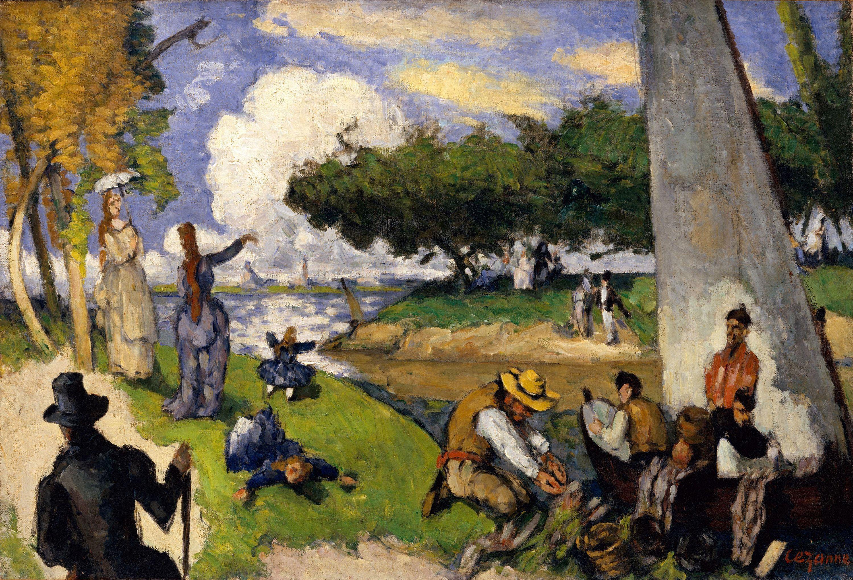 Fishermen, by Paul Cezanne, 1875.