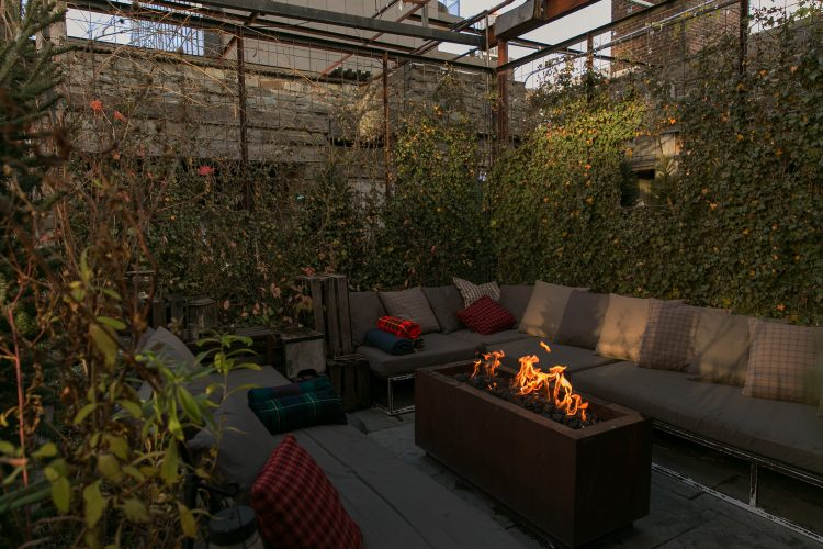 Gallow Green's winter rooftop is a cozy place to spend an evening