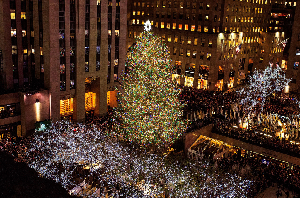 Rockefeller Center Christmas Tree, New York, USA - 29 Nov 2017