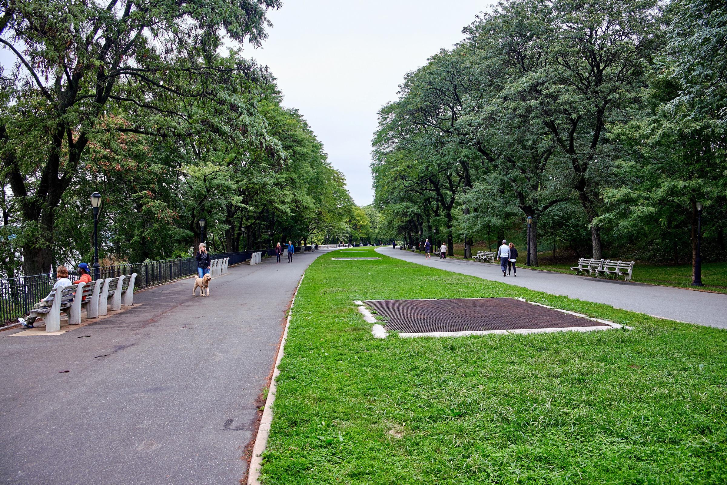 Hudson River Greenway in Riverside Park