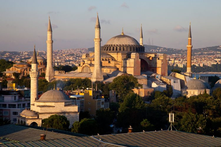 The Hagia Sophia Museum is situated in the Sultanahmet district