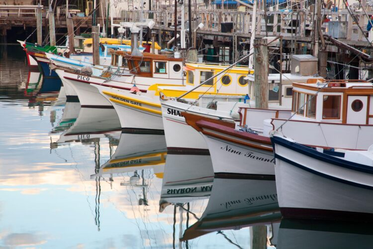 Monterey Hull Boats, Fisherman's Wharf, San Francisco, CA
