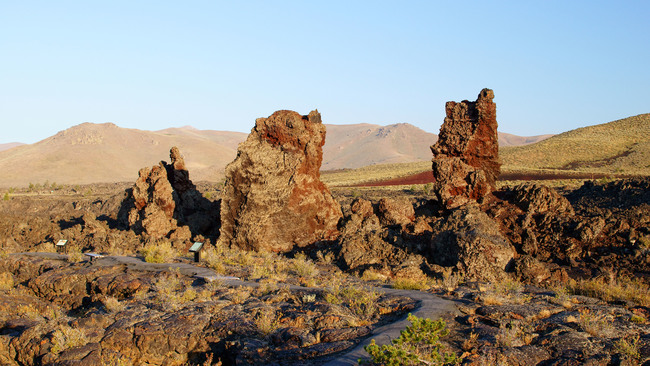 North craters in Moon National Monument preserve in central Idaho