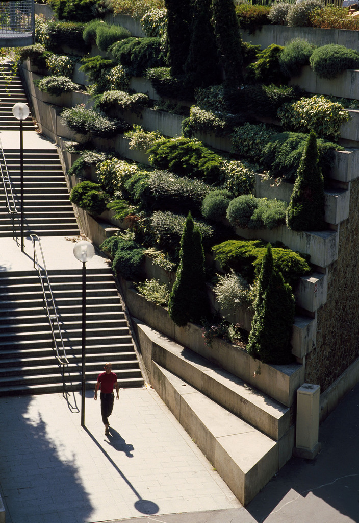 Stairs on The Promenade Plantee in Paris
