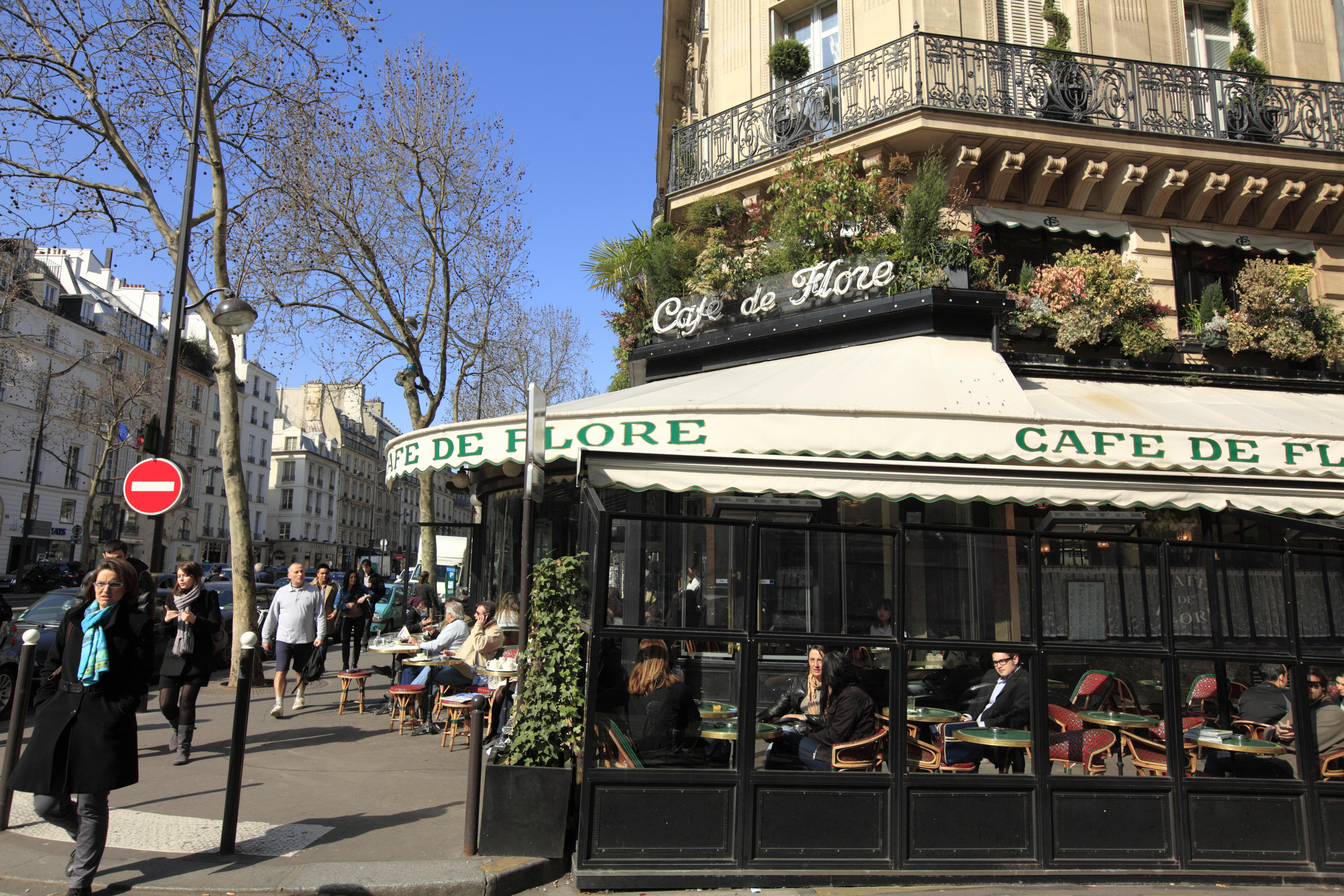 Cafe de Flore.Paris.France. Image shot 2016. Exact date unknown.