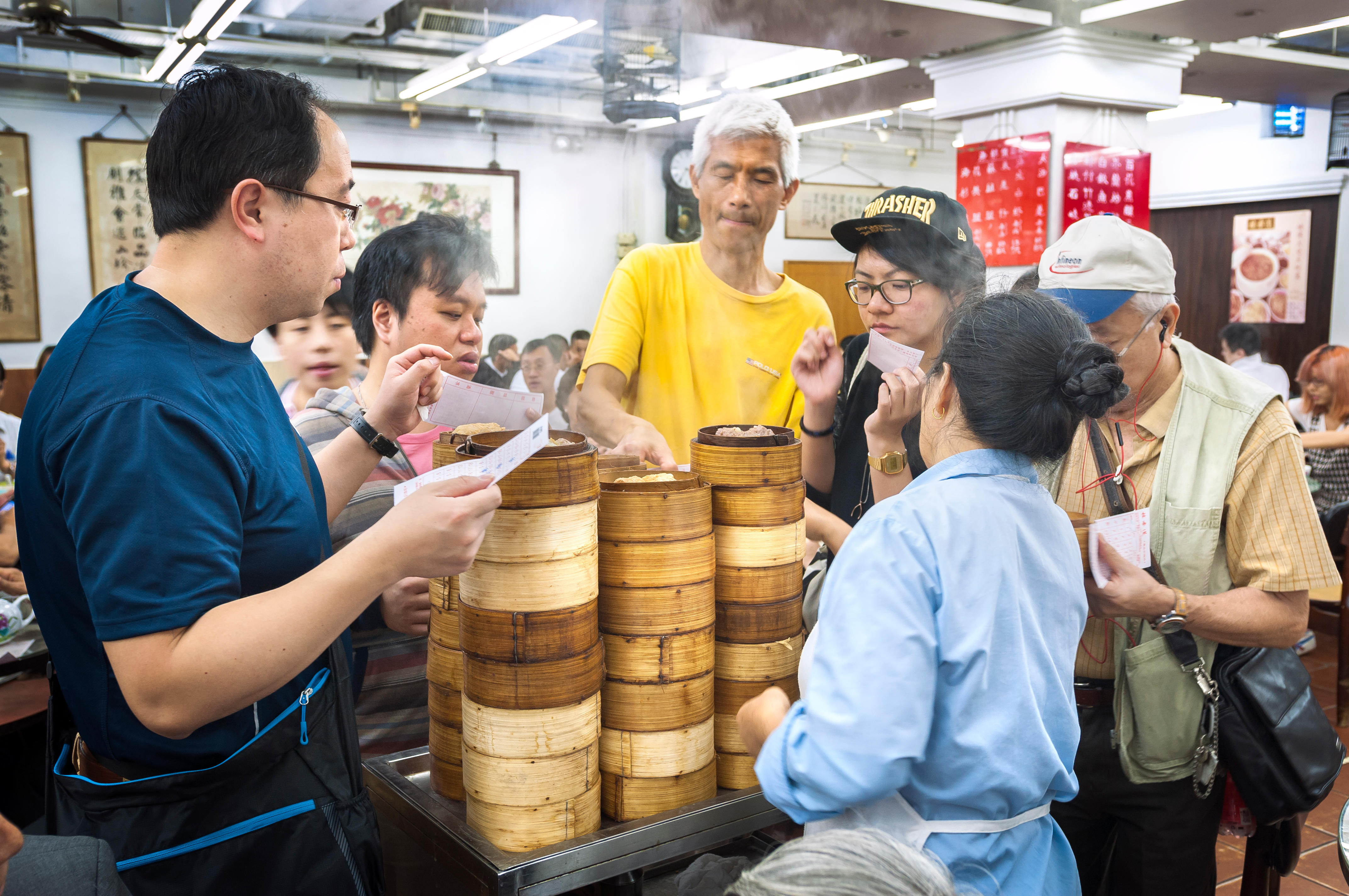 Tuck into dim sum at Lin Heung