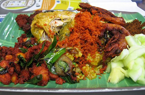 If you're a curry lover, the Indian mixed rice or Nasi Kandar is a must