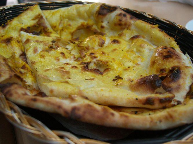 Fluffy butter and garlic naan