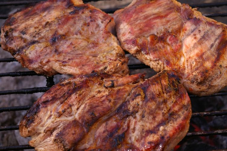 Choices of grilled meat are available