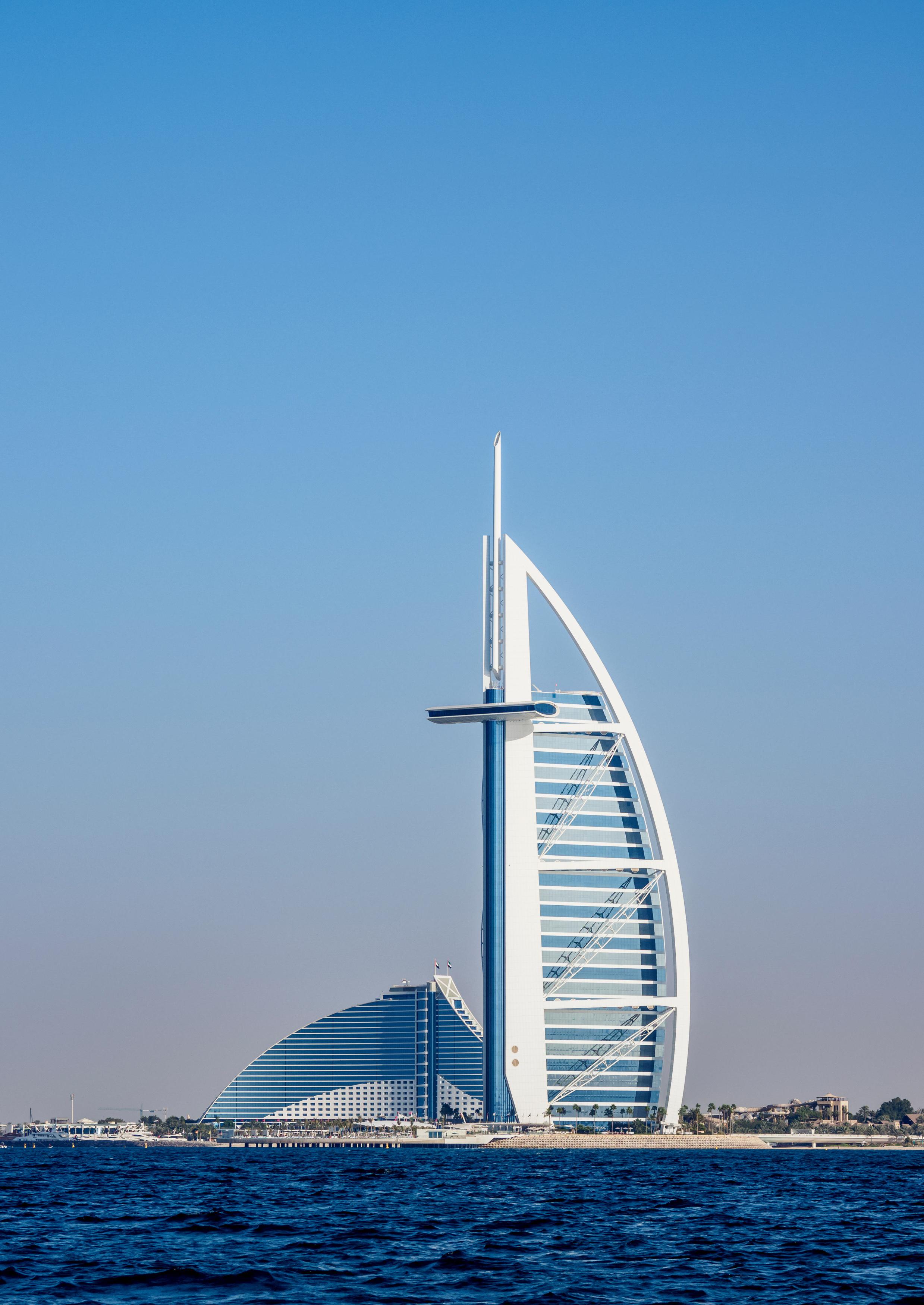 Burj Al Arab and Jumeirah Beach Hotels, Dubai, United Arab Emirates