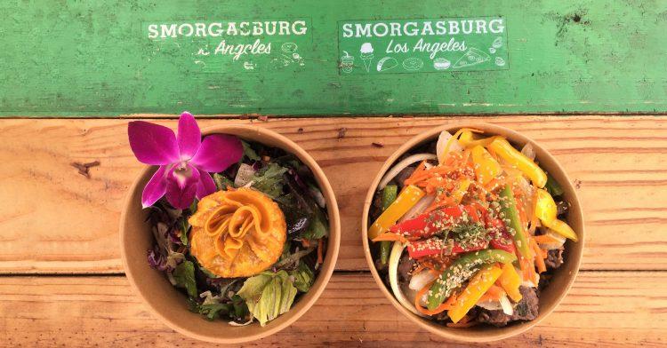 Asian food bowls at Smorgasburg in Los Angeles