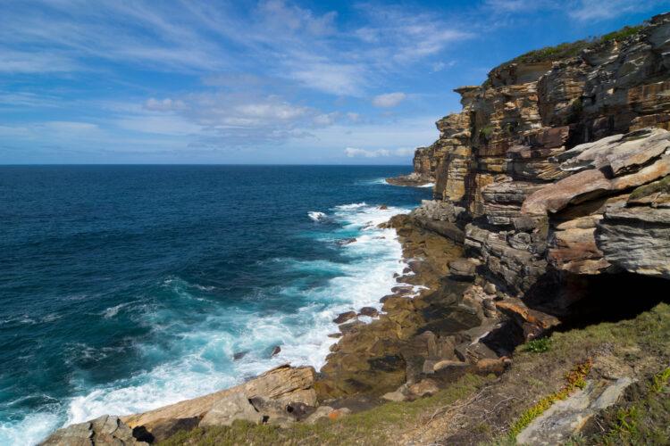 Coastal Cliffs in Royal National Park near Sydney
