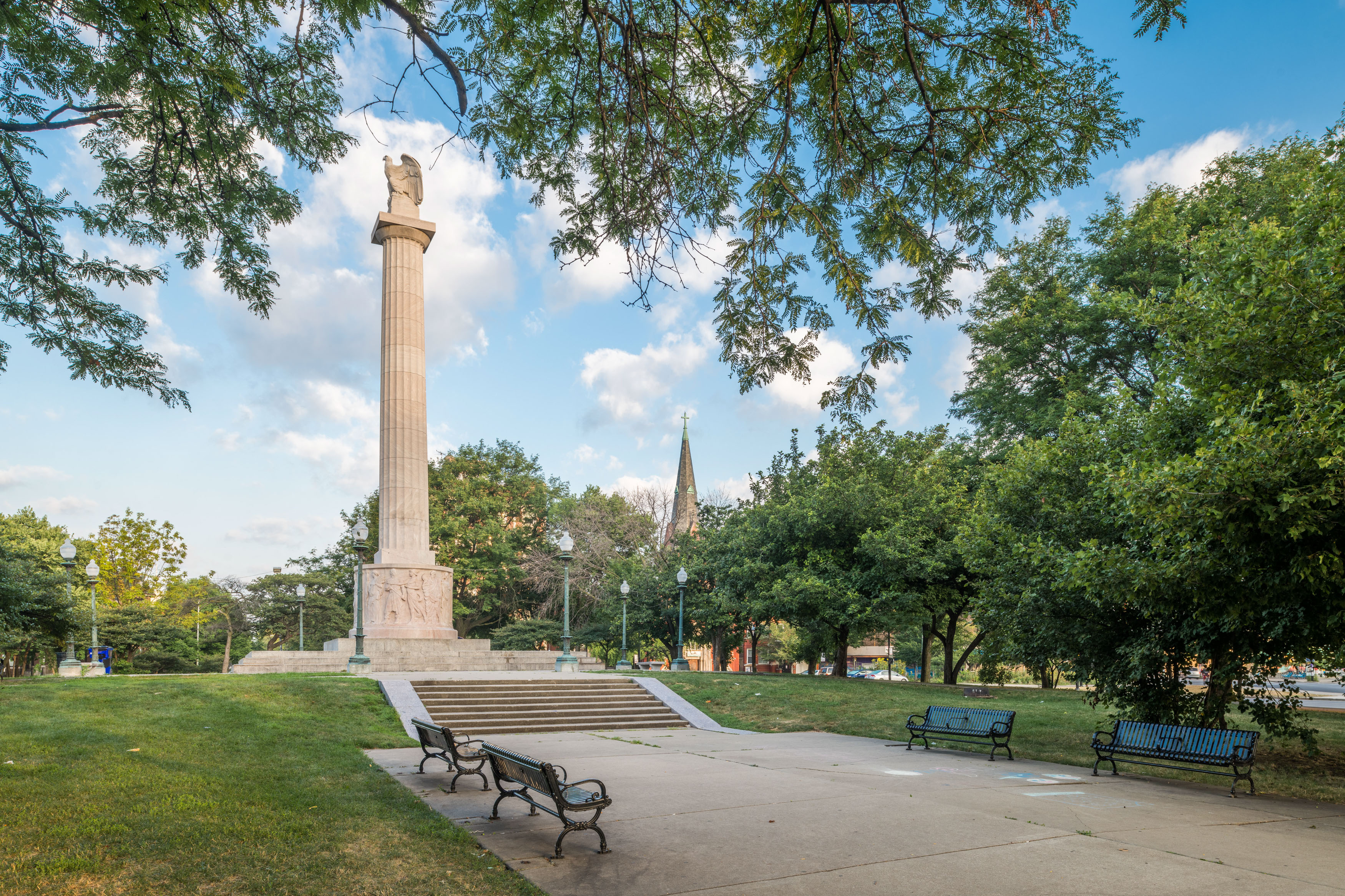 Logan Monument in Logan Square