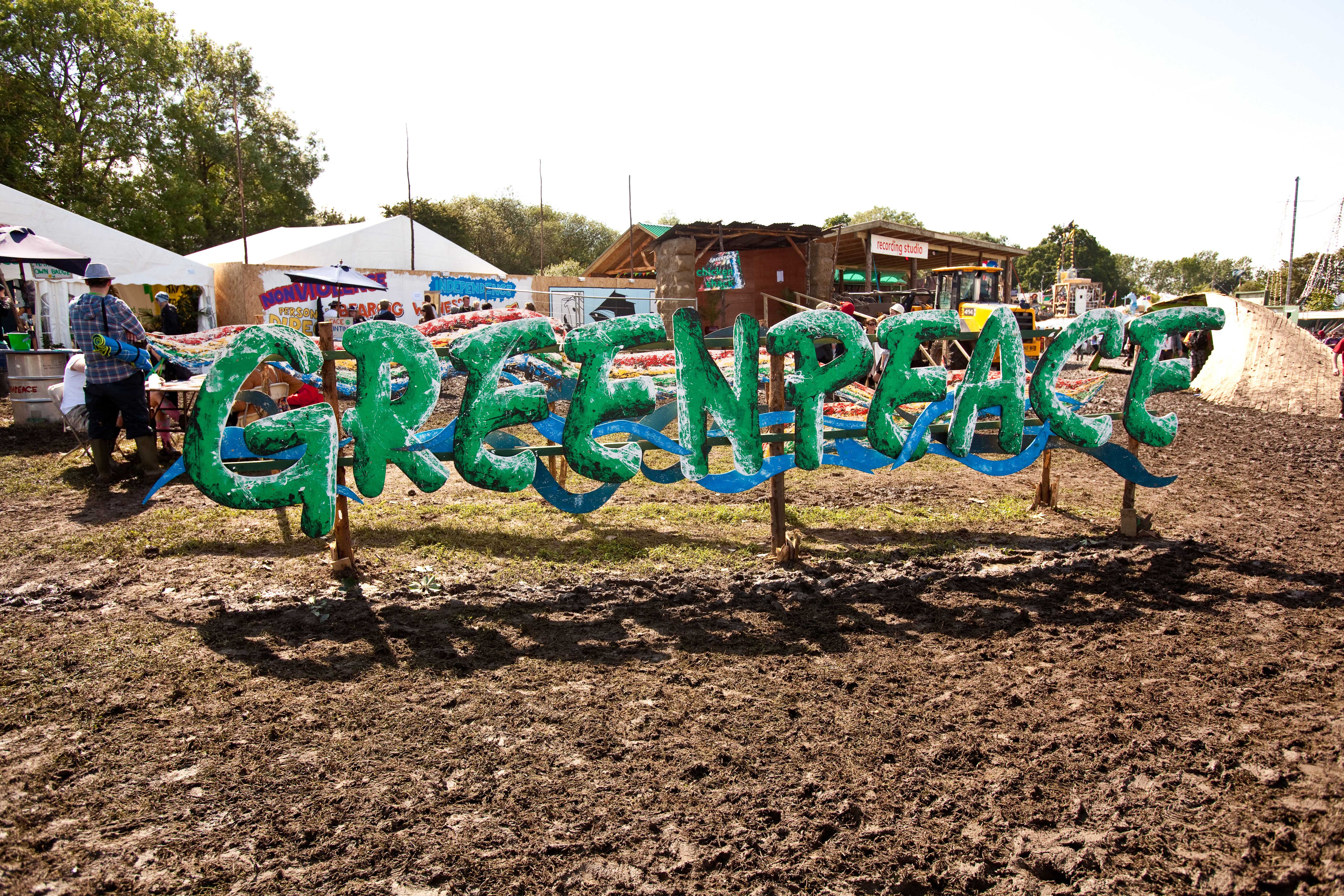 The festival works with a number of charities, including Greenpeace