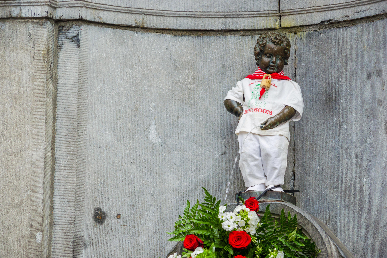 Manneken Pis statue in Brussels