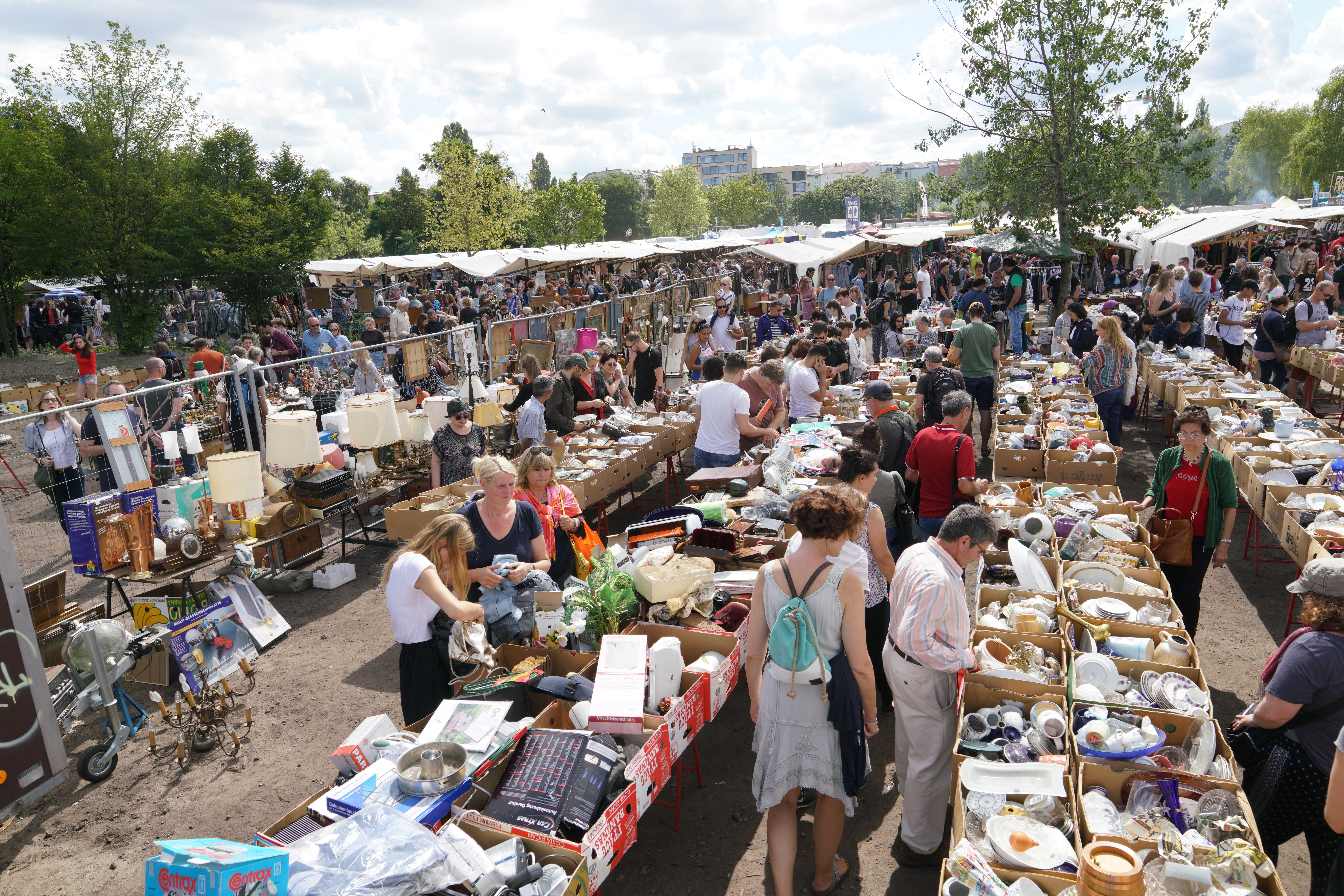 Mauerpark flea market in Prenzlauer Berg, Berlin