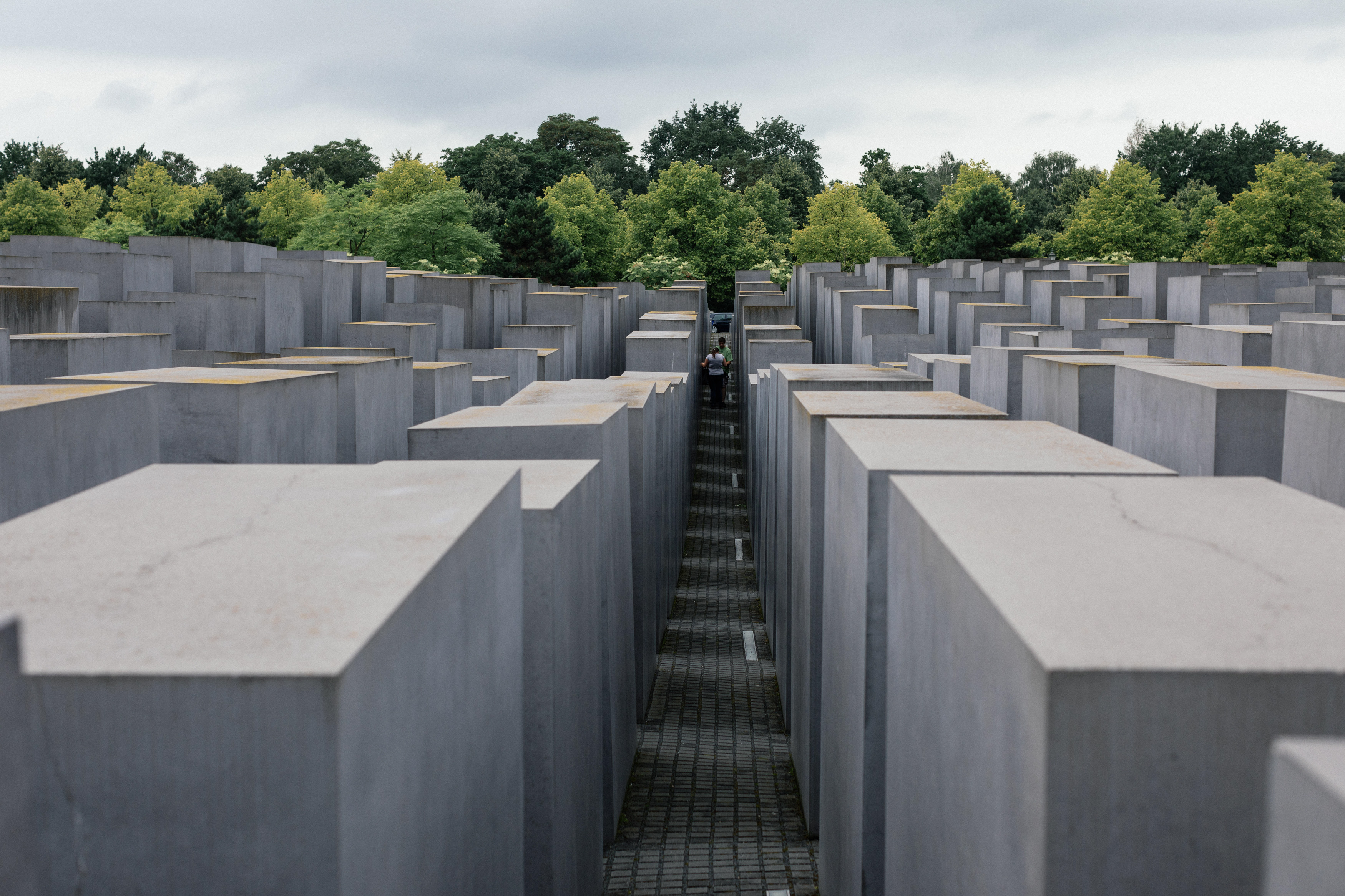 The Memorial to the Murdered Jews of Europe, also known as the Holocaust Memorial, in Berlin, Germany.