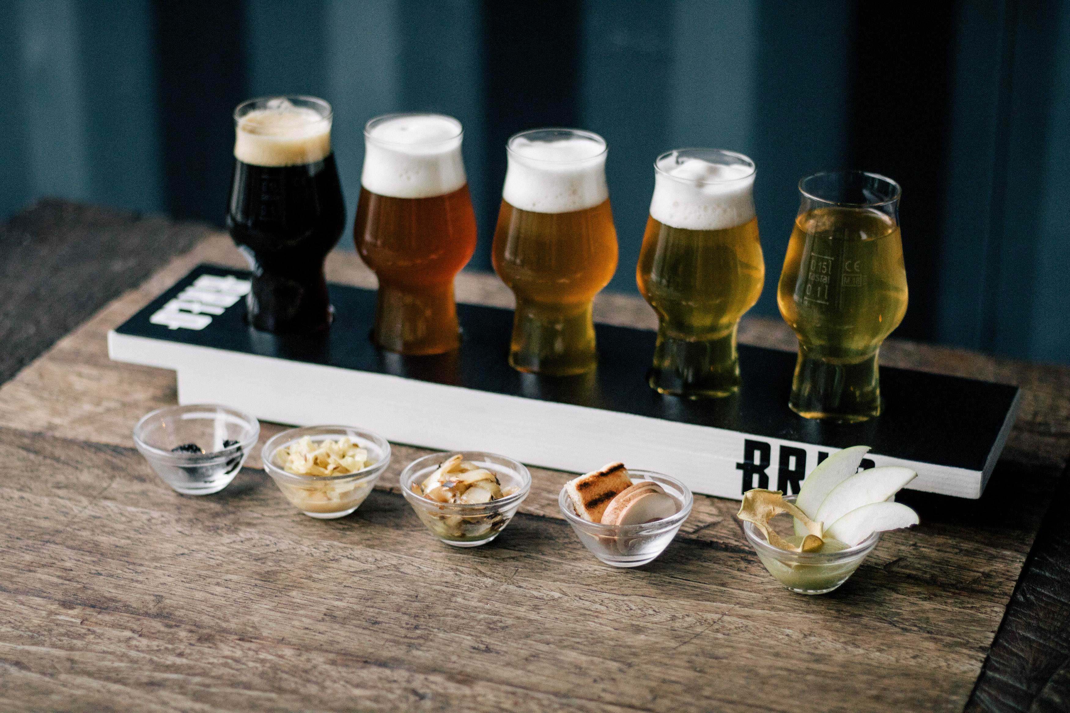 BRLO offers a tasting board with food pairings