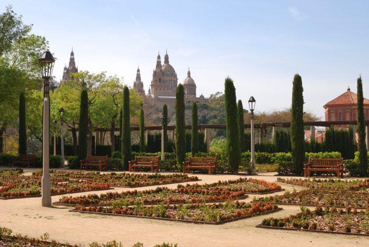 The Greek Theatre gardens on Montjuic in Barcelona