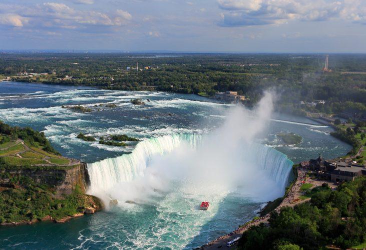 Niagara Falls, aerial view, Canada