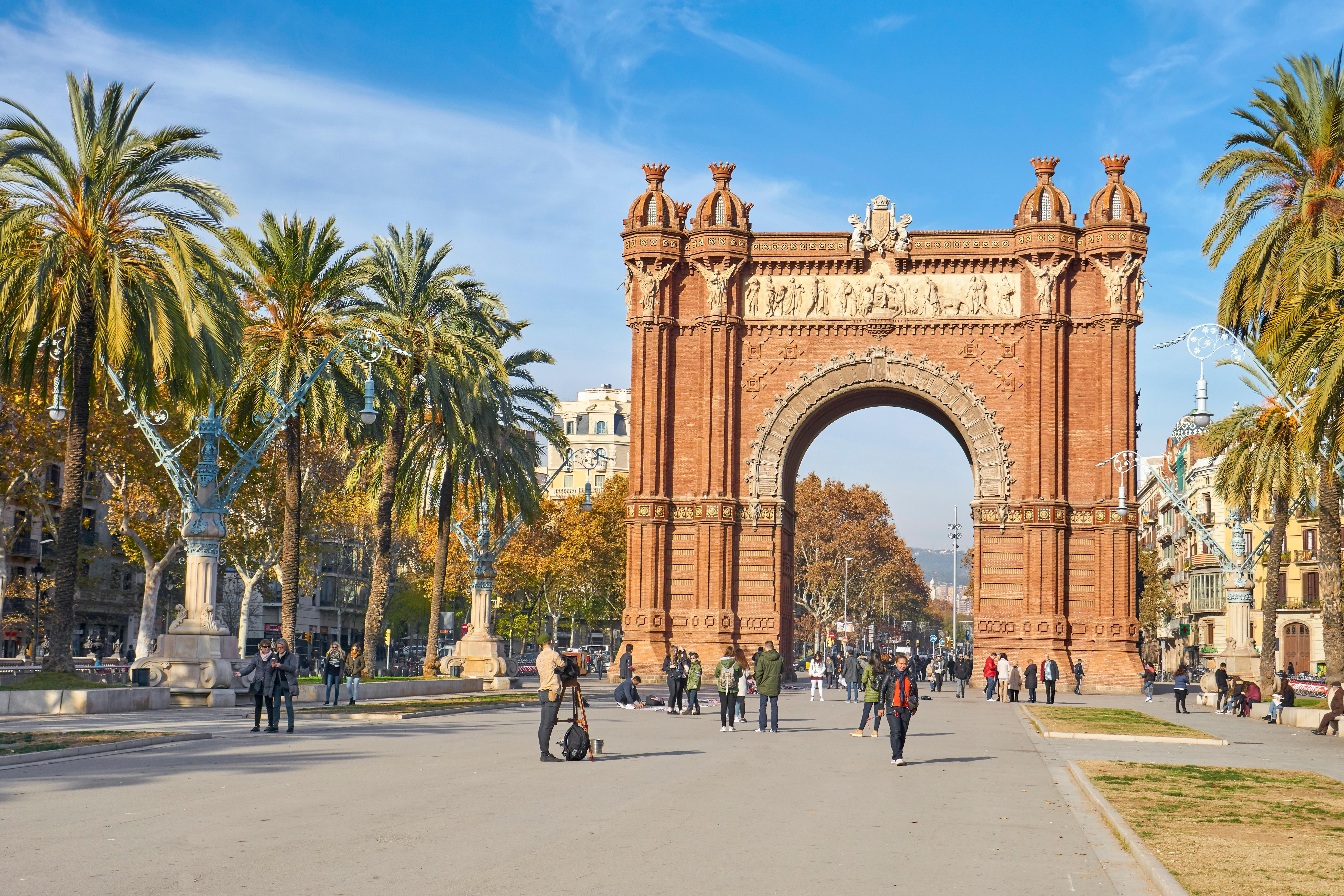 Arc de Triomf or Arco de Triunfo, Barcelona, Catalonia, Spain