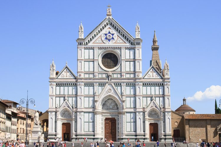 The Basilica di Santa Croce is home to the tombs of some of Florence's most famous inhabitants