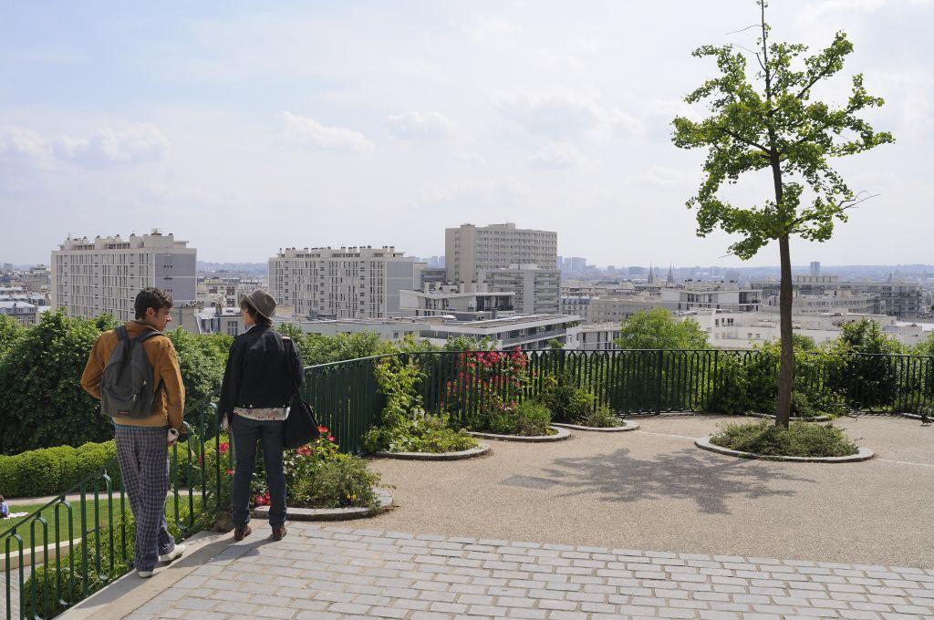 The Parc De Belleville, Belleville And Menilmontant District, Paris, France