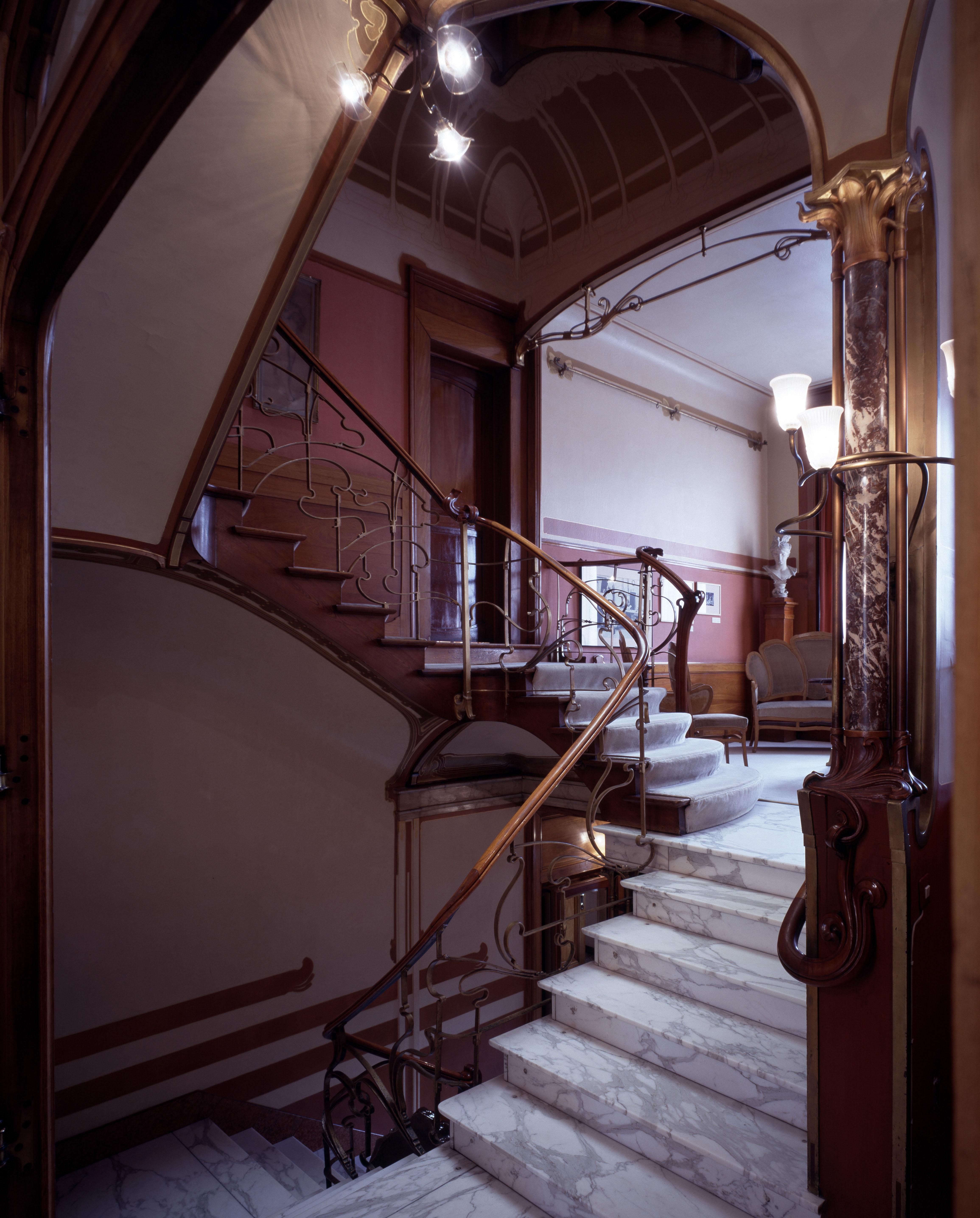 Brussel, Horta Museum, Rue Americaine 25, interieur, Treppenhaus