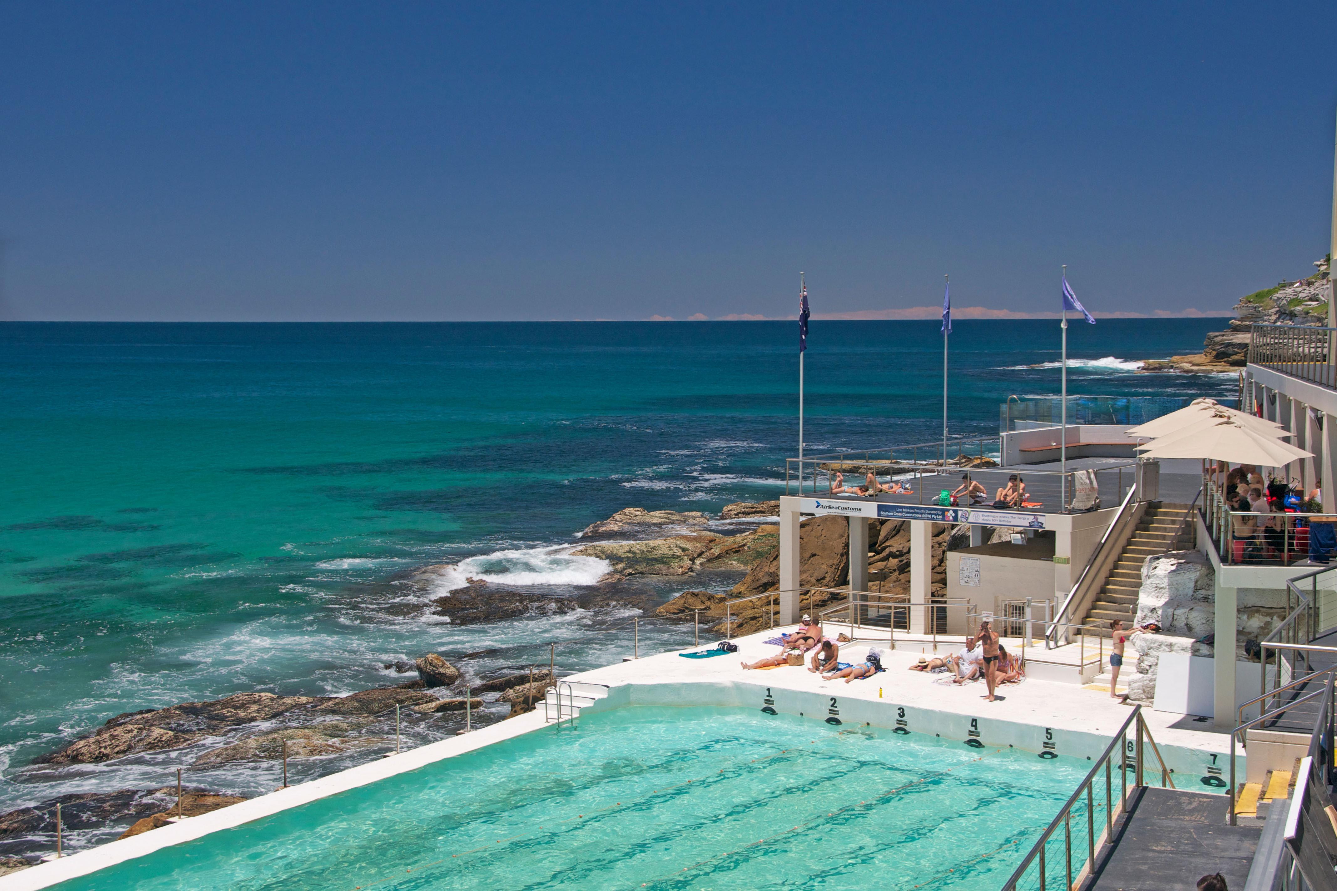 Icebergs Club and swimming pool on South Bondi Beach