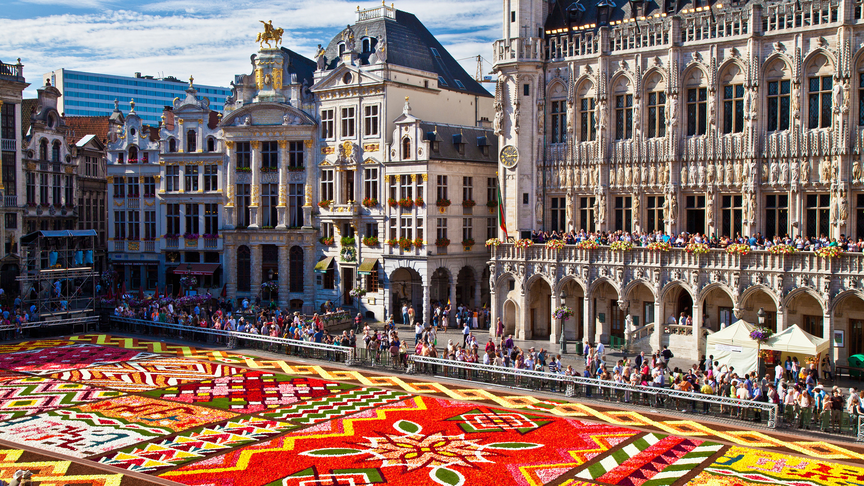 2012 Flower Carpet, Tapis de Fleurs, in front of the City Hall in the Grand-Place, Brussels