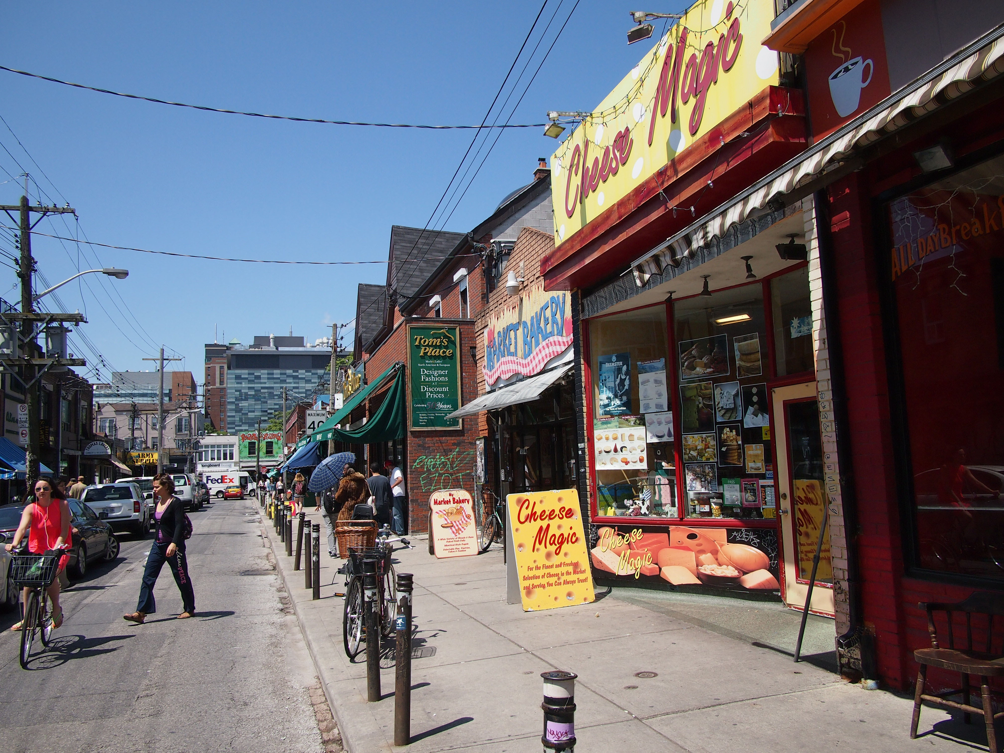 Kensington Market, Toronto ethnic Bohemian shopping area