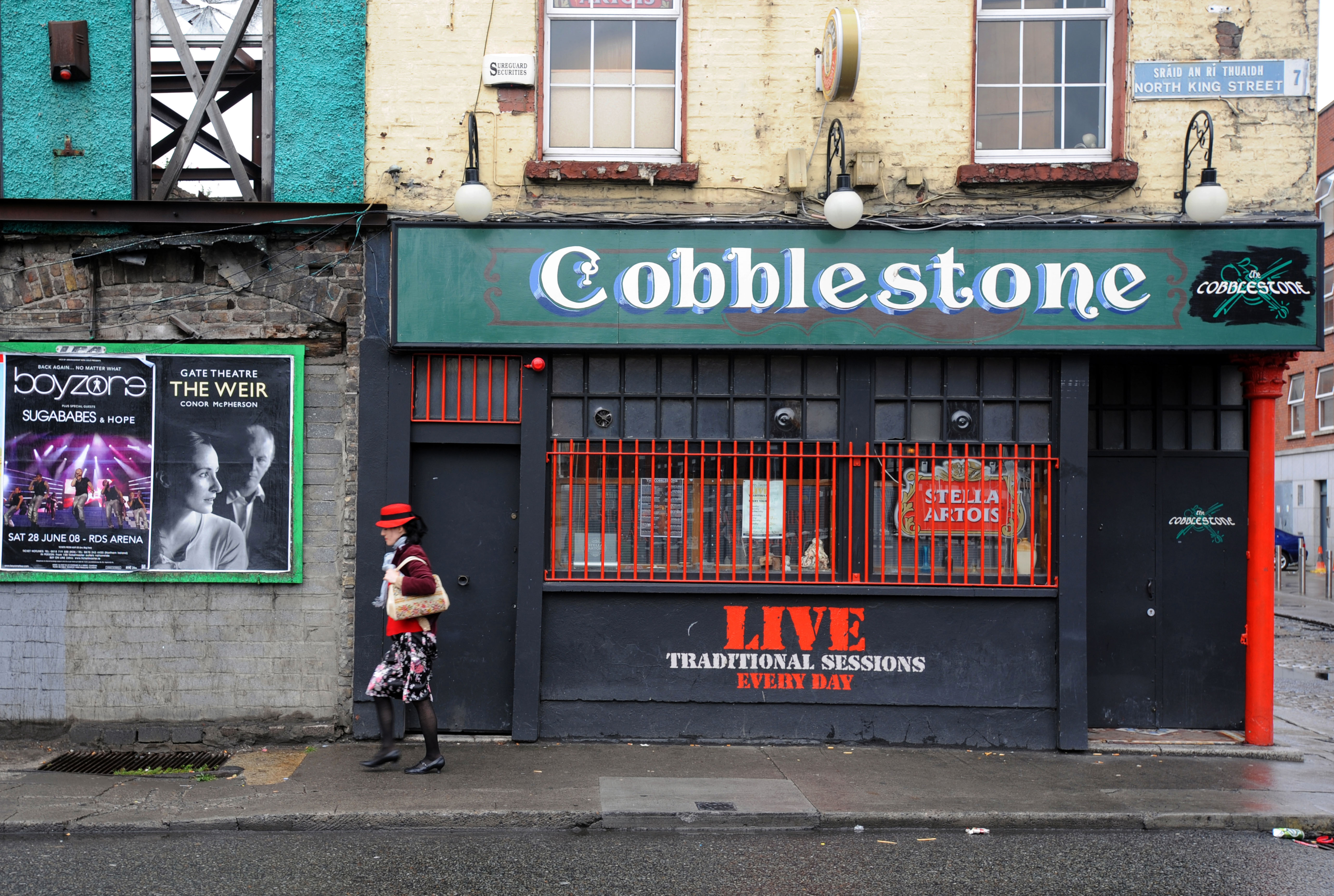 The Cobblestone pub in Smithfield Dublin Ireland. Image shot 07/2008. Exact date unknown.