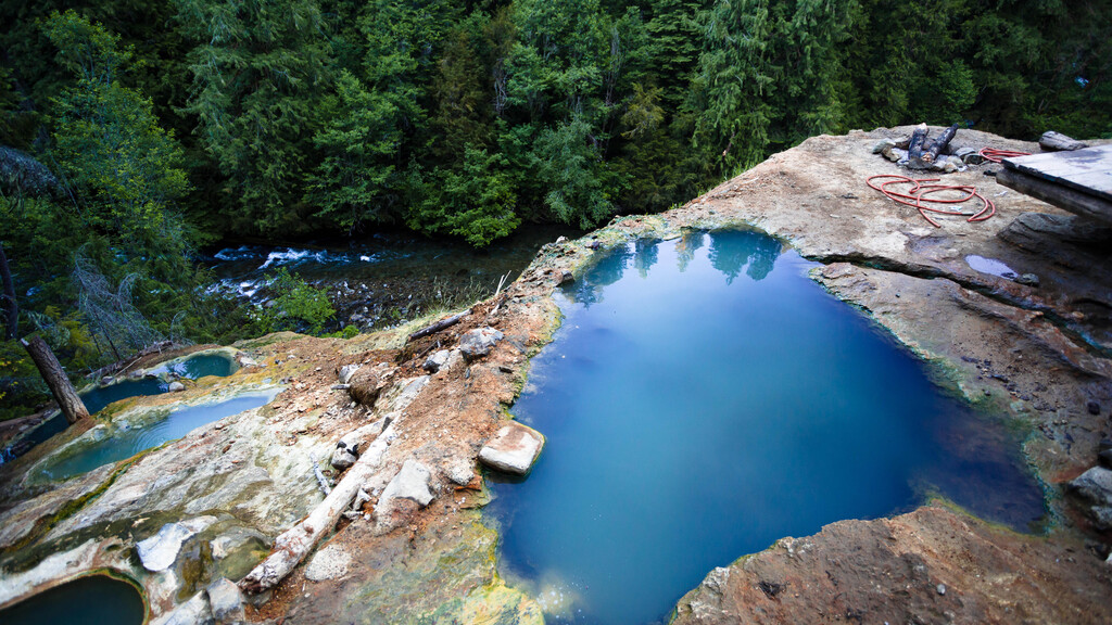Umpqua Hot Springs in Oregon- which is also sometimes known as Toketee Hot Springs - features