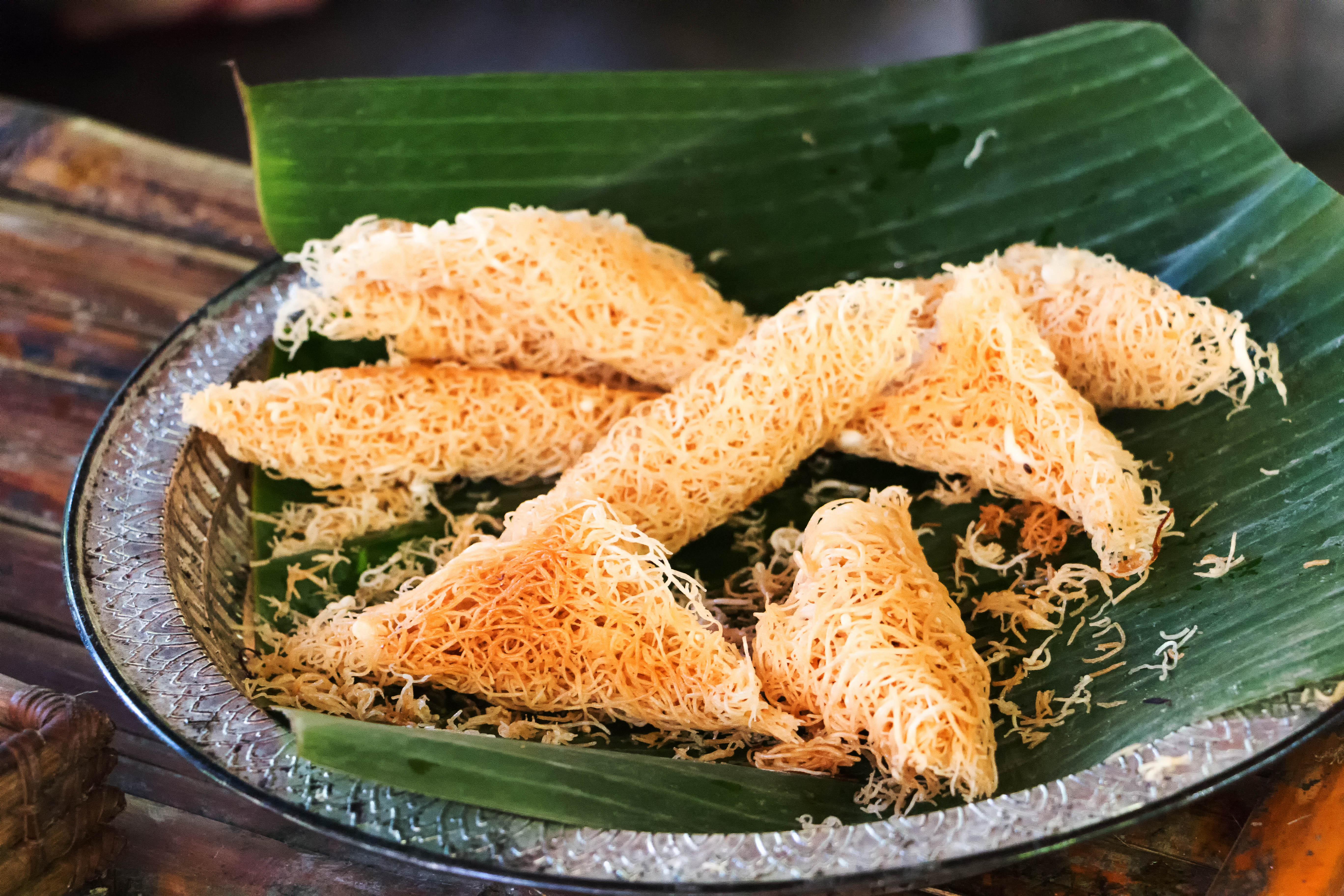 Asian delicacies-Kuih Sarang Semut -Roti jala