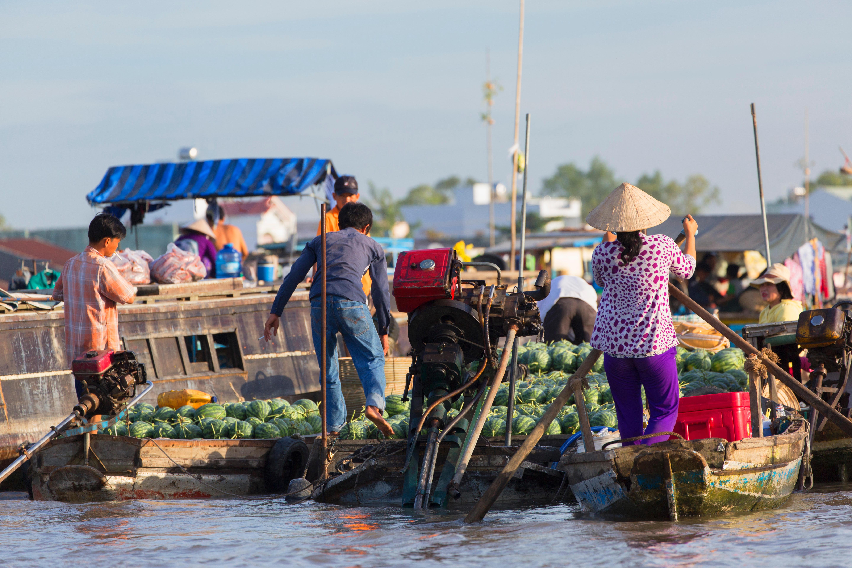 Cai Rang floating market, Can Tho, Mekong Delta, Vietnam